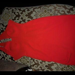 Simple red Calvin Klein dress